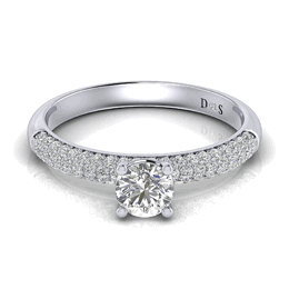 Pavé Engagement Rings